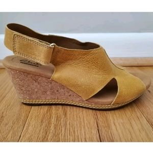 Clarks Collection Yellow Helio Float Wedge Sandal